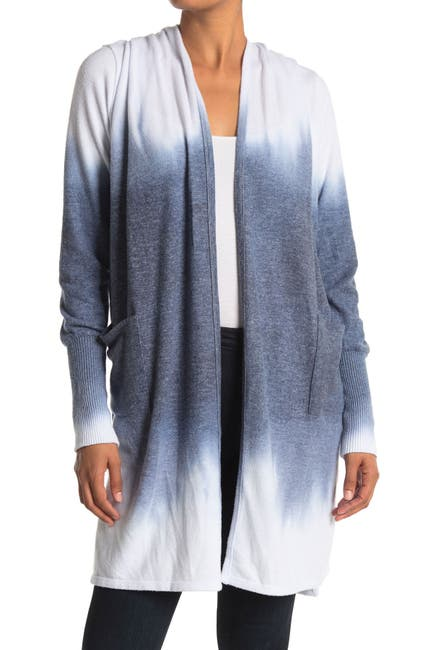 Image of Theo and Spence Tie Dye Open Front Knit Cardigan