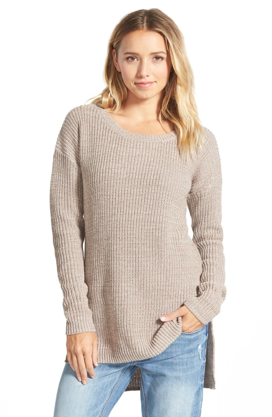 ,                             Textured Knit Pullover,                             Main thumbnail 4, color,                             030