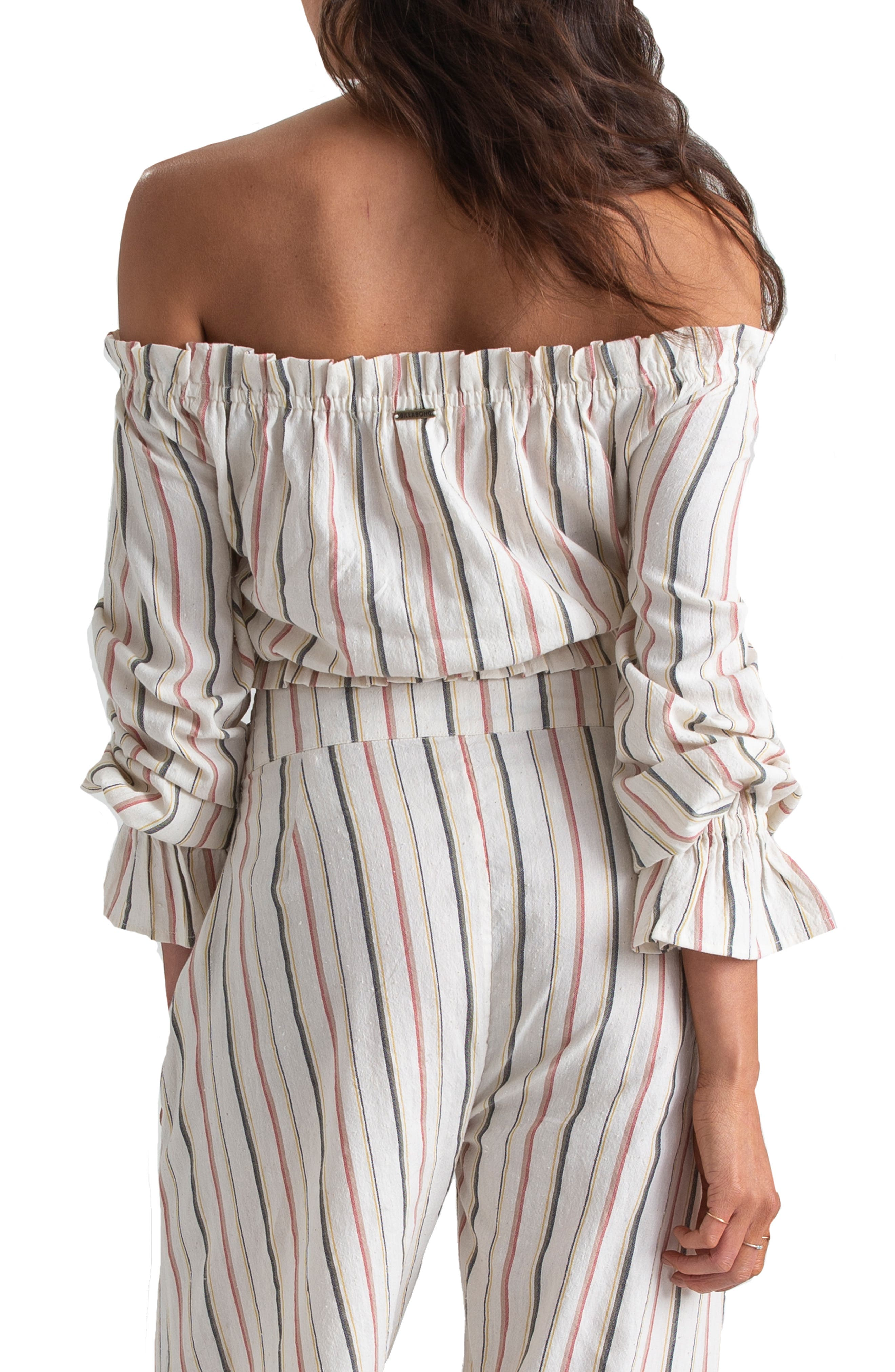 ,                             x Sincerely Jules Tulum Weathers Off-the-Shoulder Crop Top,                             Alternate thumbnail 3, color,                             MULTI