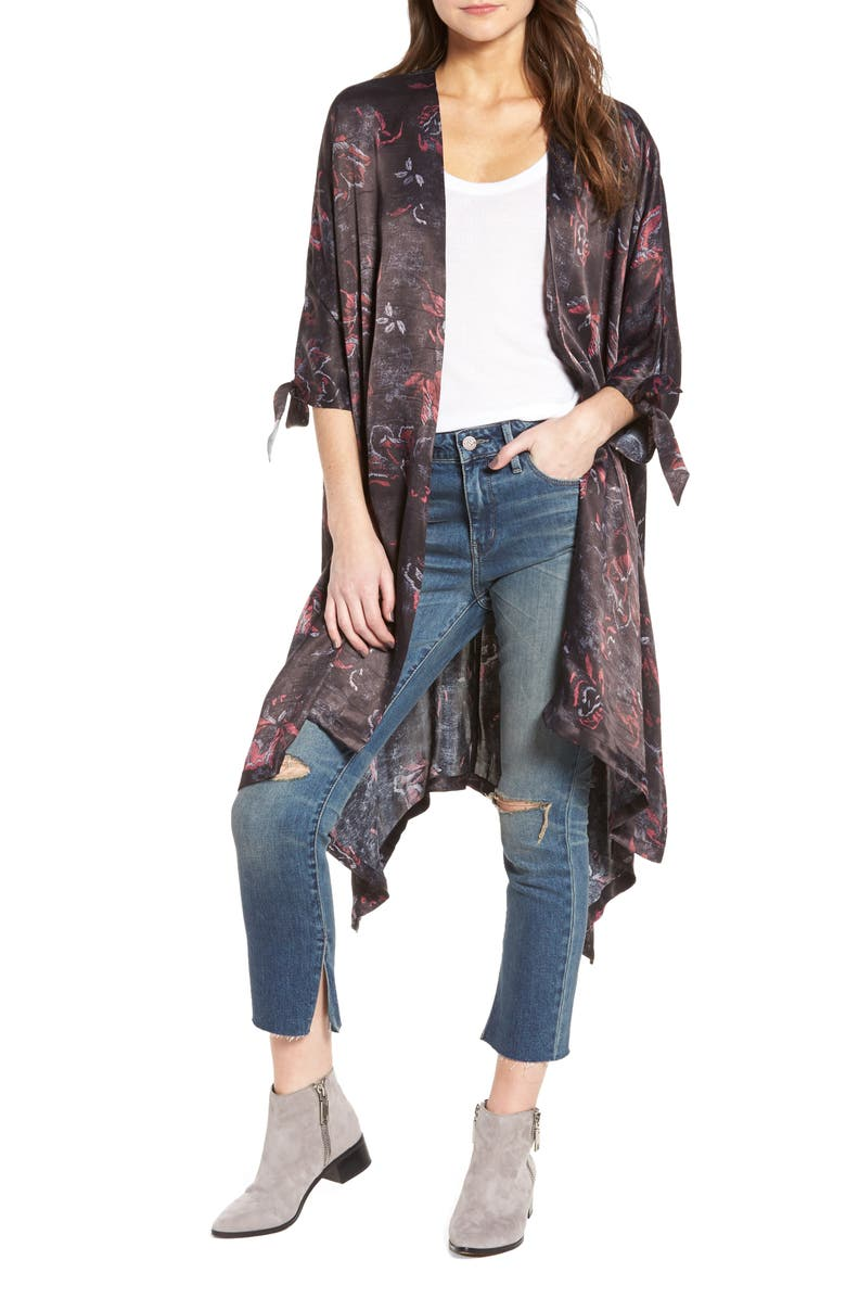 TREASURE & BOND High/Low Kimono, Main, color, 001