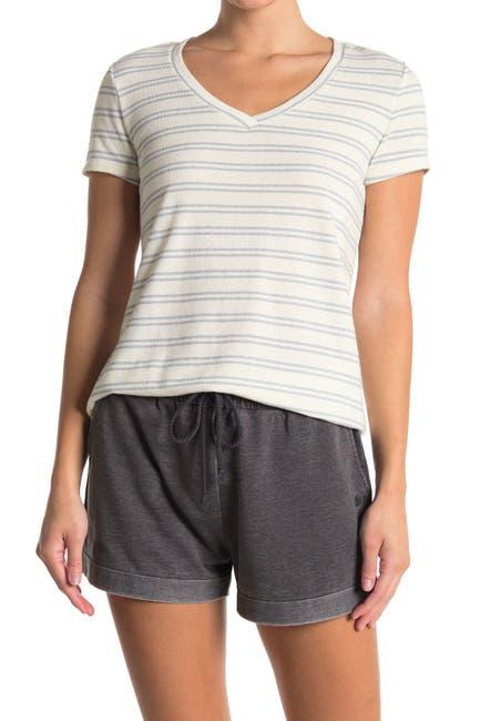 Image of Joe's Jeans Striped V-Neck T-Shirt
