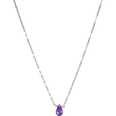 Nashelle February Synthetic Birthstone Choker Necklace