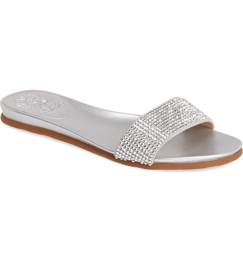 VINCE CAMUTO 'Endilla' Crystal Slide Sandal, Main, color, 041