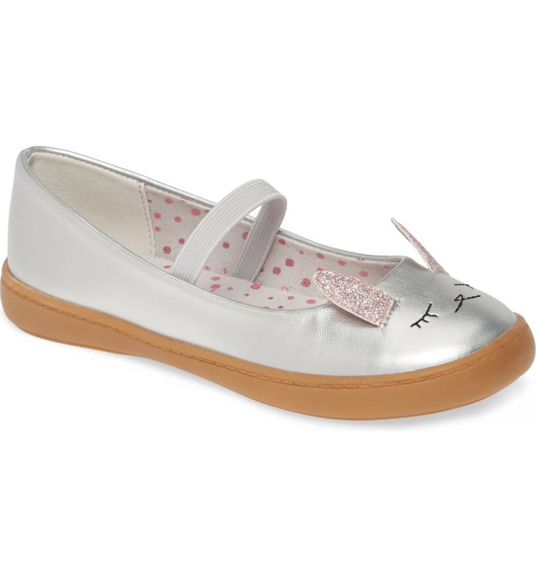 TUCKER + TATE Critter Mary Jane, Main, color, SILVER FAUX LEATHER