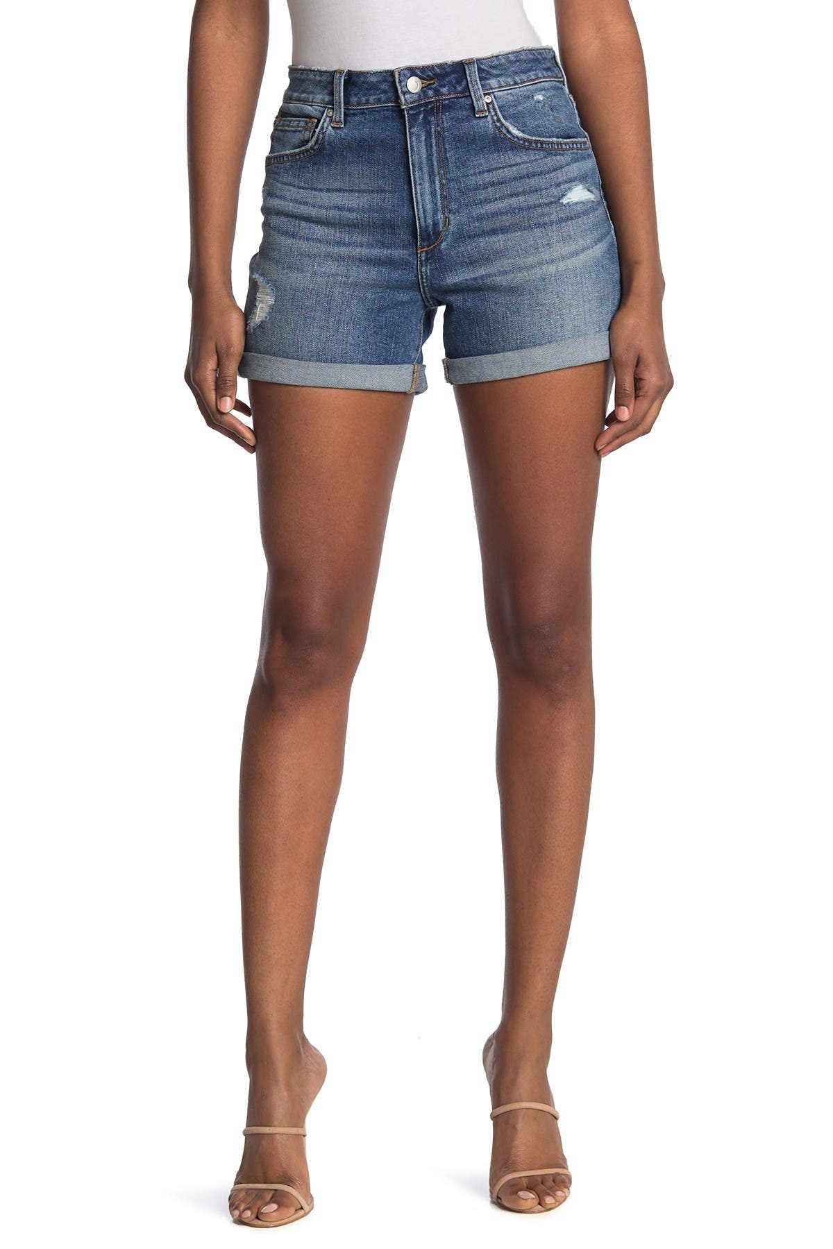Image of Joe's Jeans High Rise Distressed Shorts