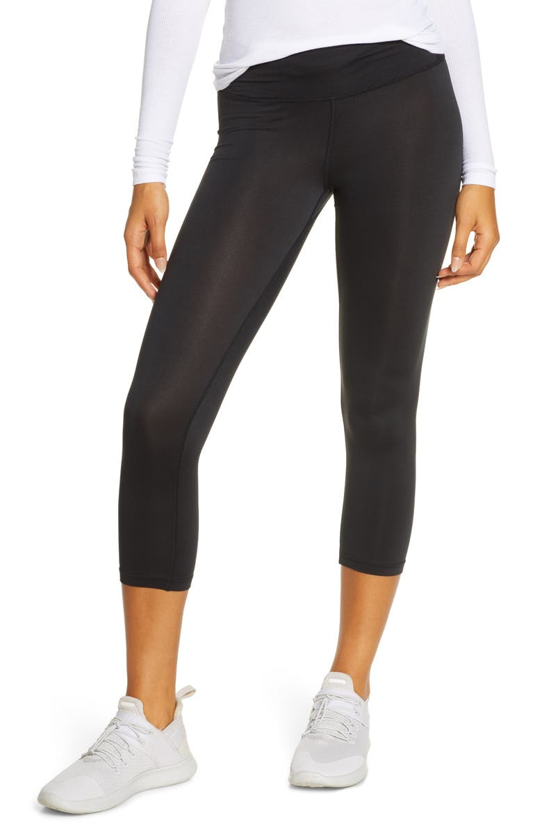 THE NORTH FACE FlashDry<sup>™</sup> Capri Performance Tights, Main, color, TNF BLACK