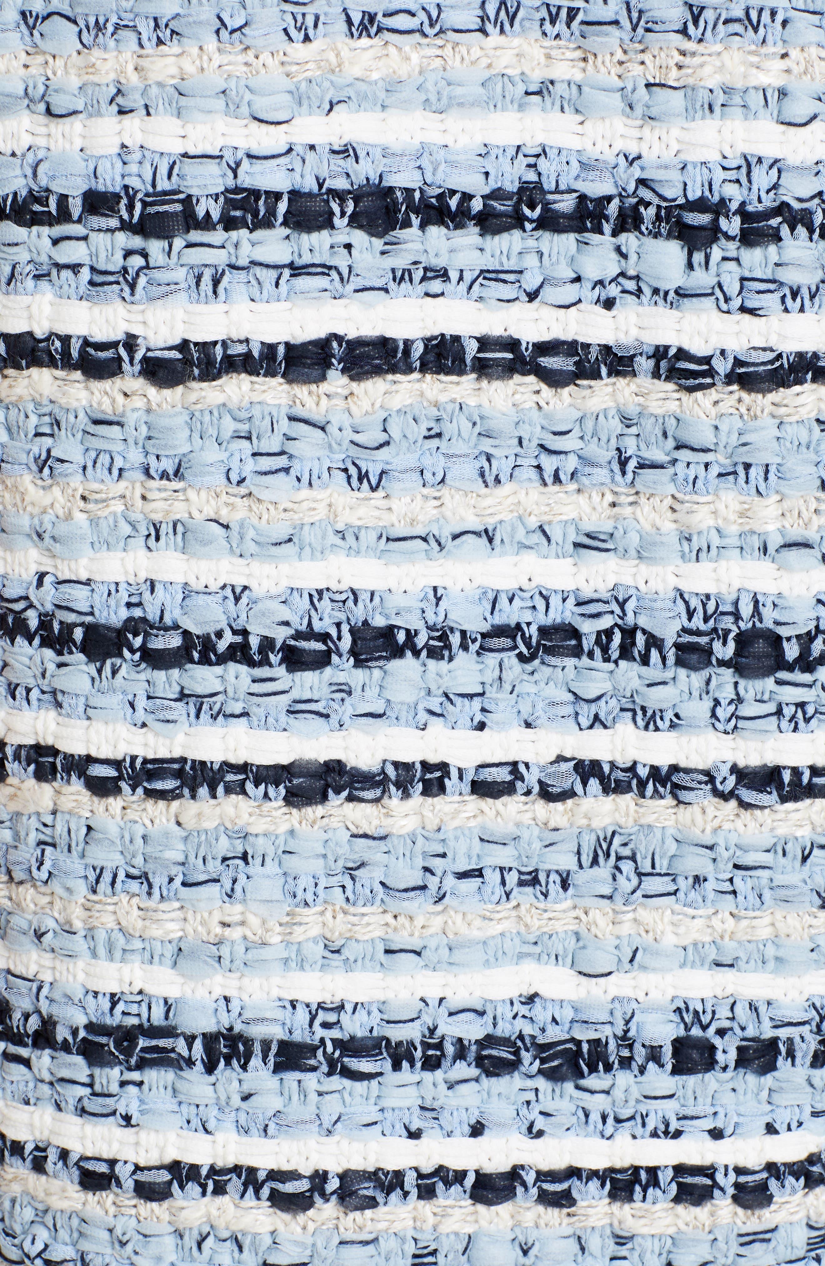 ,                             Tweed Shift Dress,                             Alternate thumbnail 6, color,                             BLUE MULTI TWEED