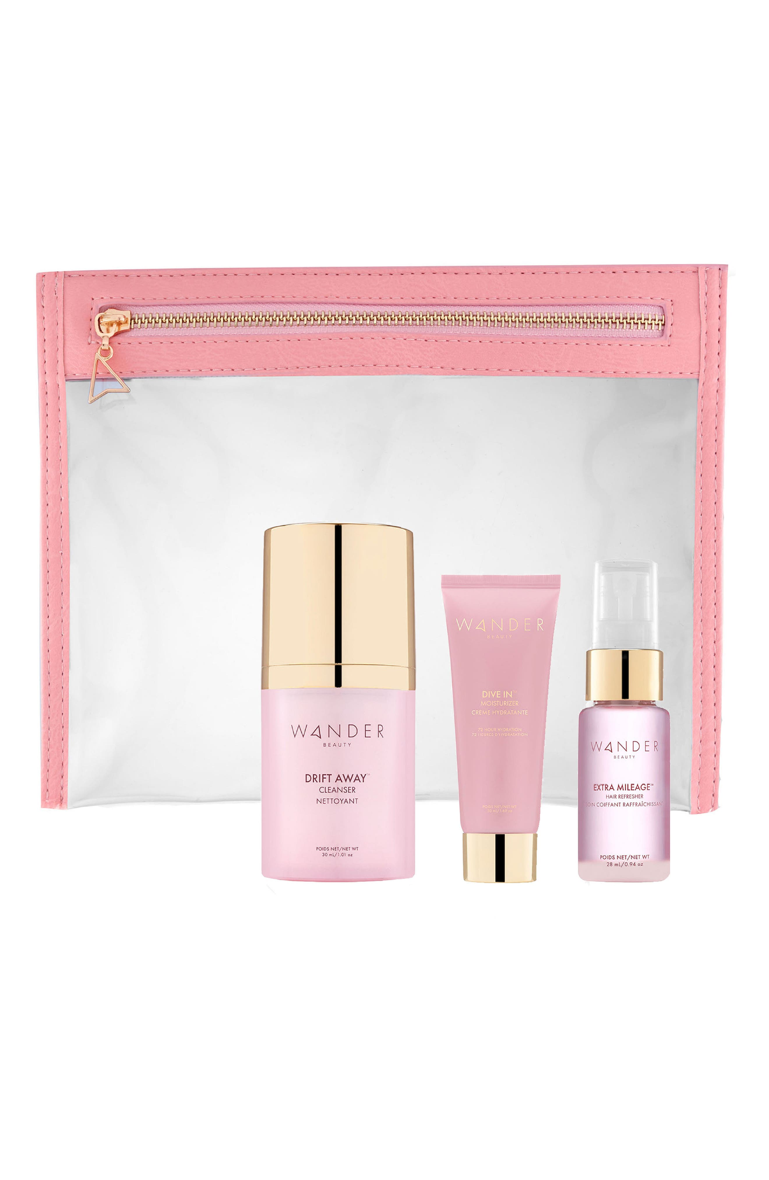 What it is: A set of hydrating beauty essentials that will revitalize your look and feel on even the busiest days. Set includes:- Mini Drift Away Cleanser (1.01 oz.): a gel-to-foam, deep facial cleanser with a blend of vitamin-rich extracts and powerful sea ingredients to melt away all impurities without drying the skin- Mini Dive In Moisturizer: a lightweight moisturizer that sinks into the skin and is enriched with Pentavitin and a multitude