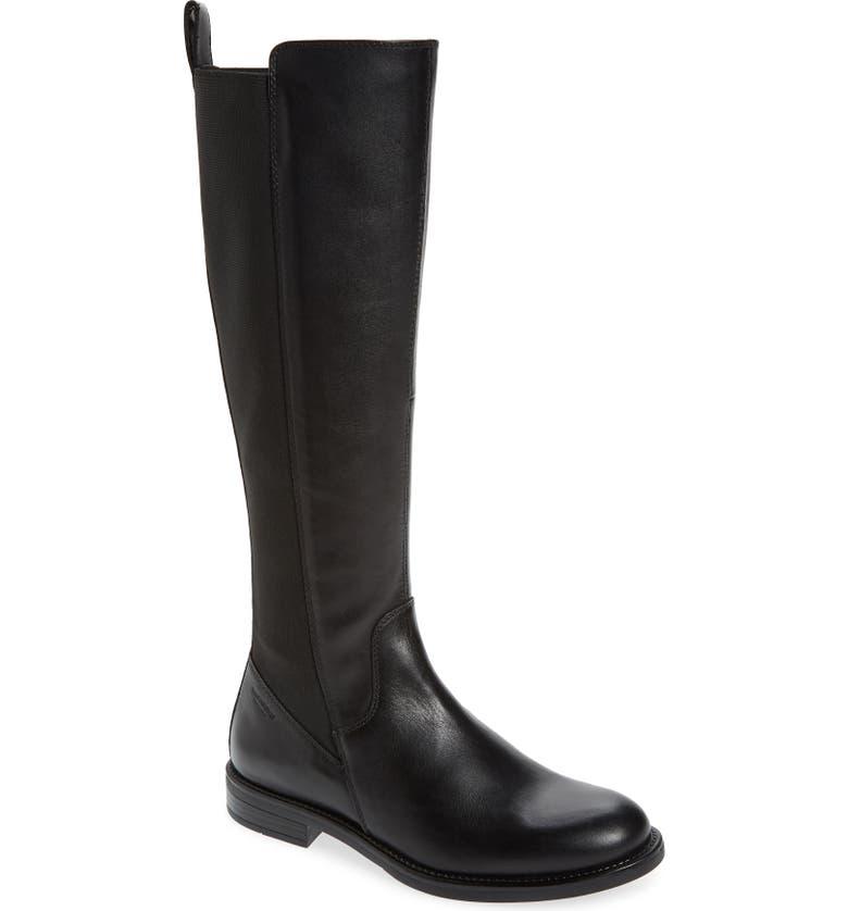 VAGABOND SHOEMAKERS Amina Knee High Boot, Main, color, BLACK LEATHER