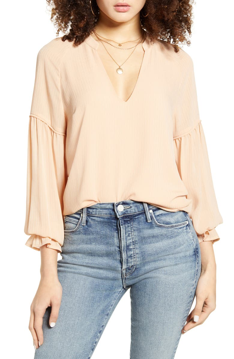 ALL IN FAVOR Peasant Blouse, Main, color, 250