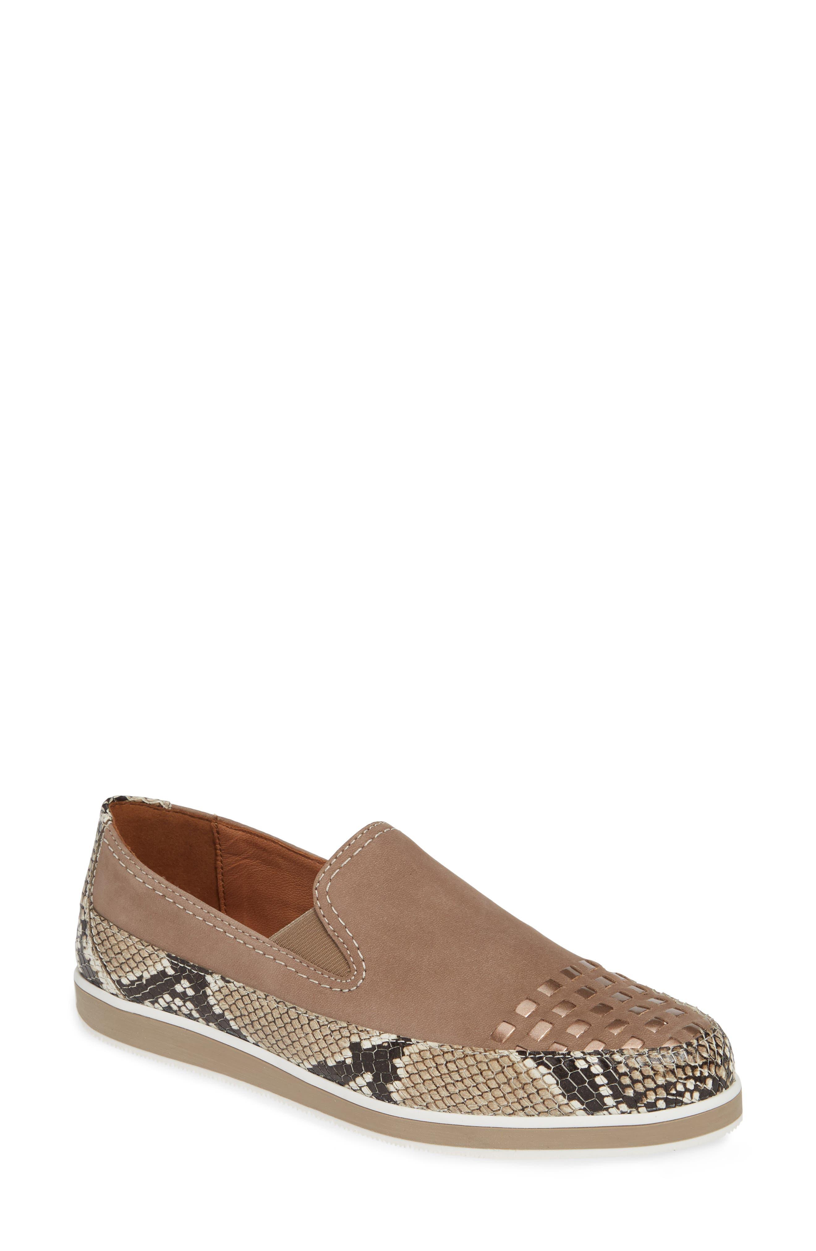 Ara Laurel Slip-On Sneaker, Beige