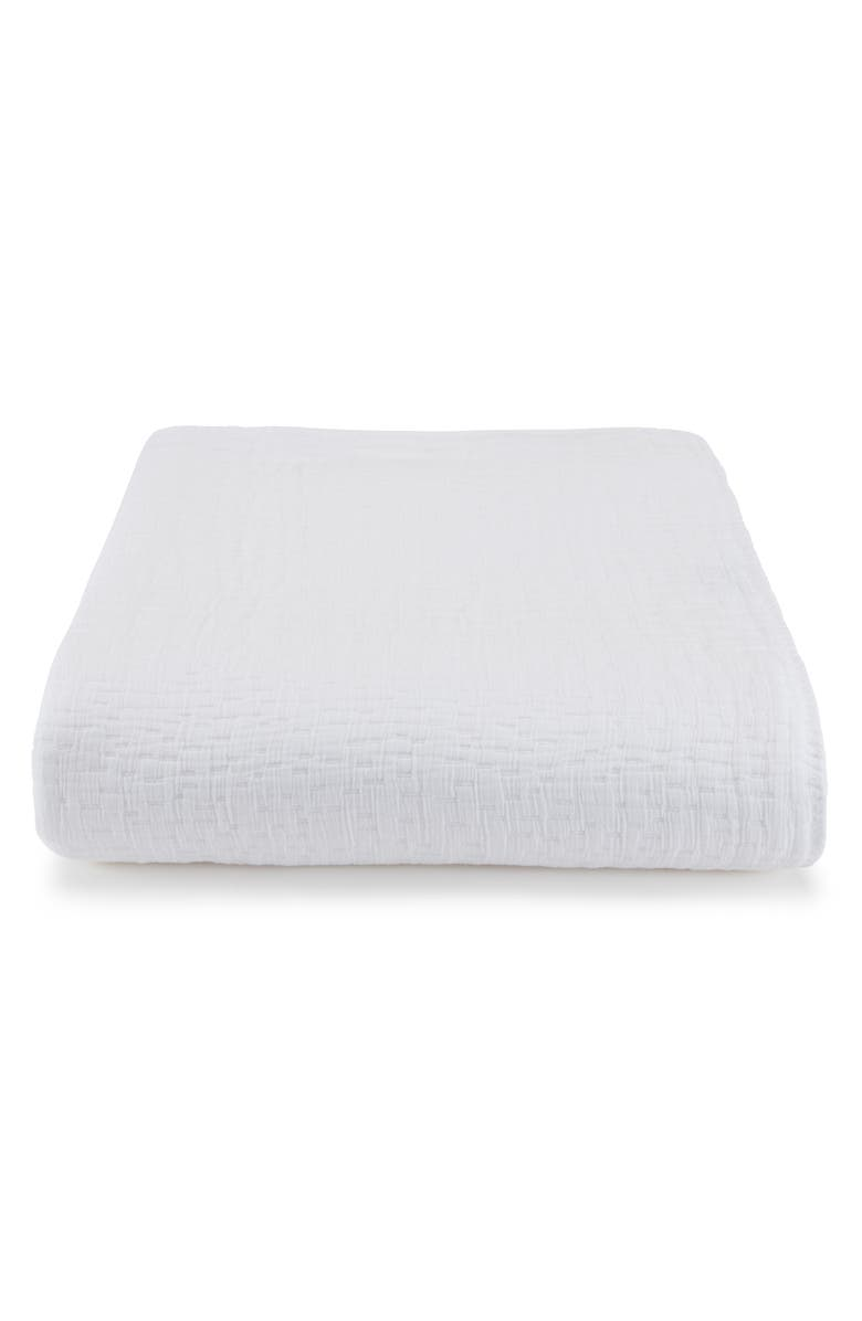 KASSATEX Lafayette Coverlet, Main, color, WHITE