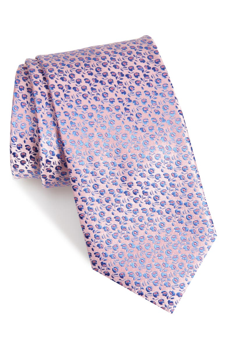CANALI Floral Silk Tie, Main, color, 650