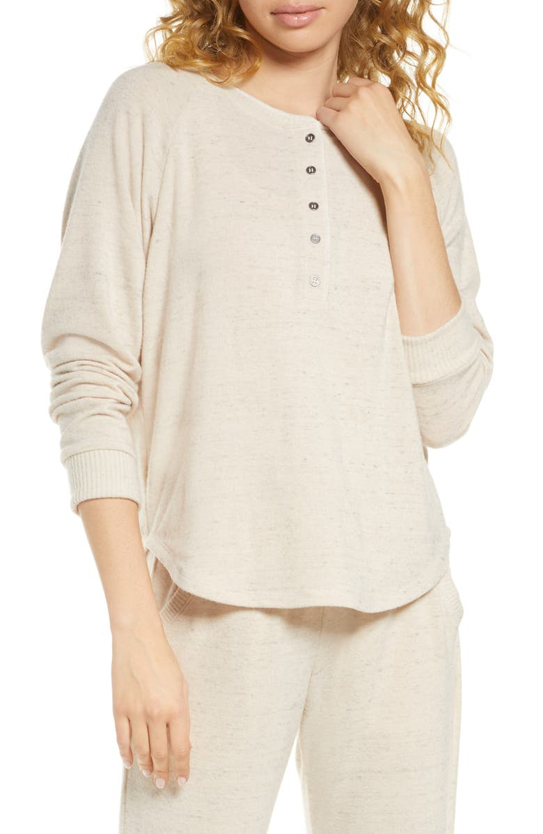 PROJECT SOCIAL T Lounge Henley Top, Main, color, CHAMPAGNE
