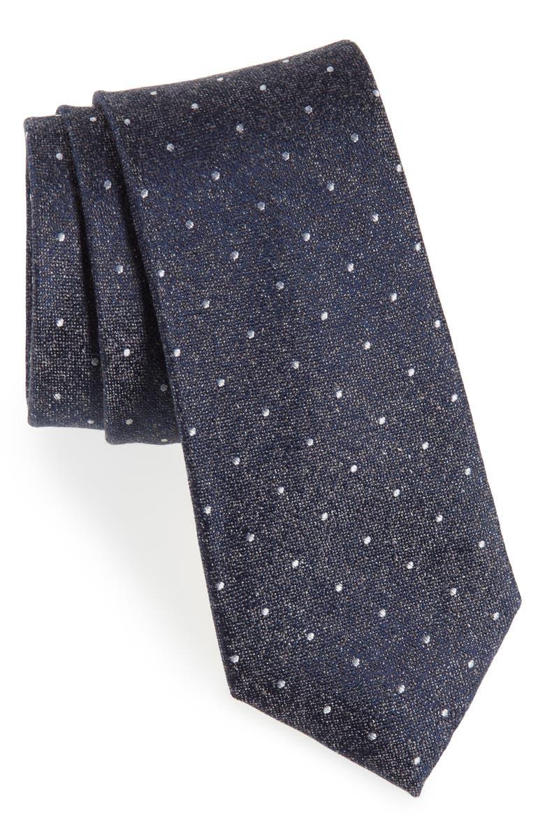 CALIBRATE Reiter Dot Silk Blend Tie, Main, color, 020