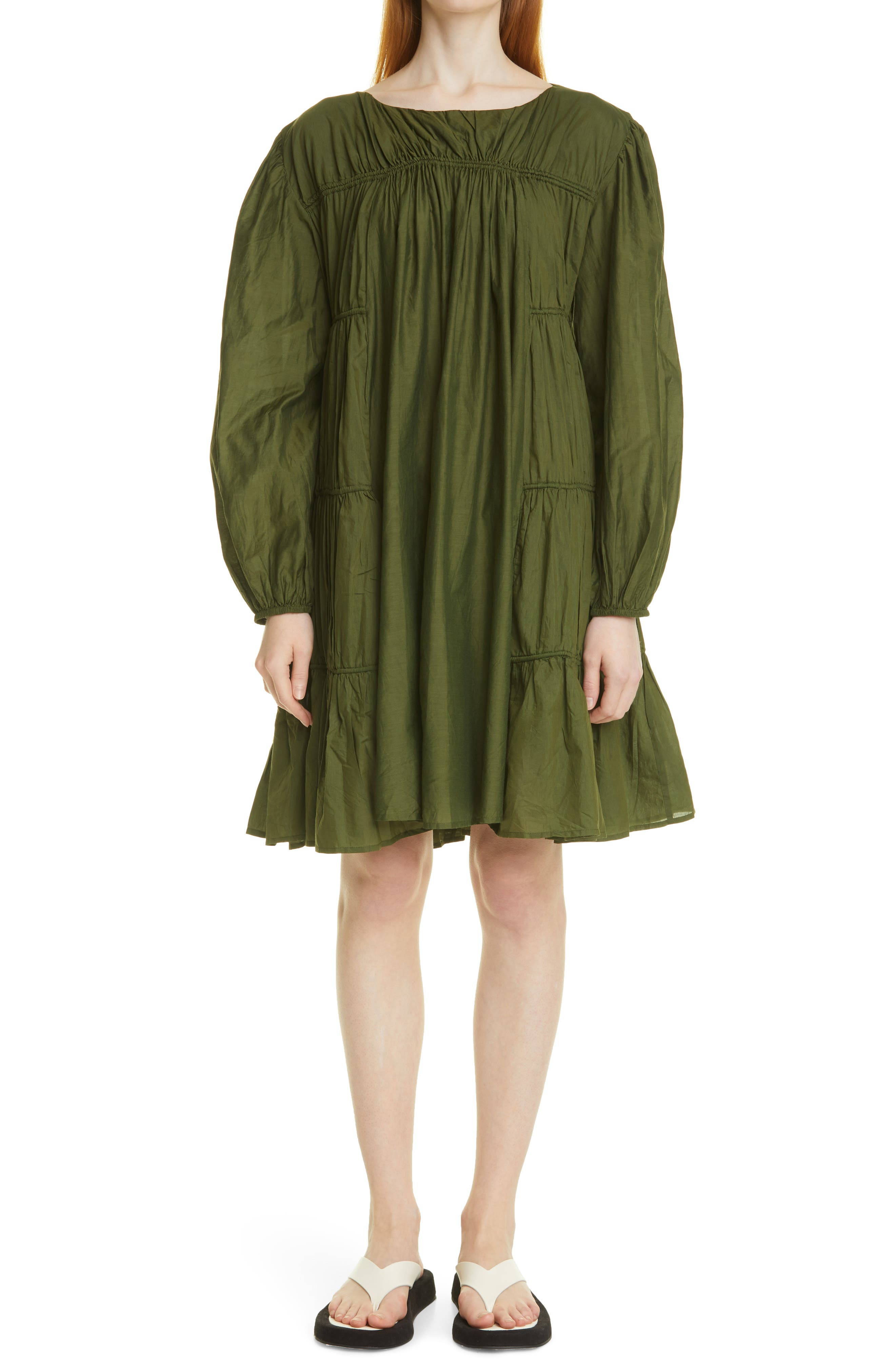 Siddal Tiered Long Sleeve Minidress