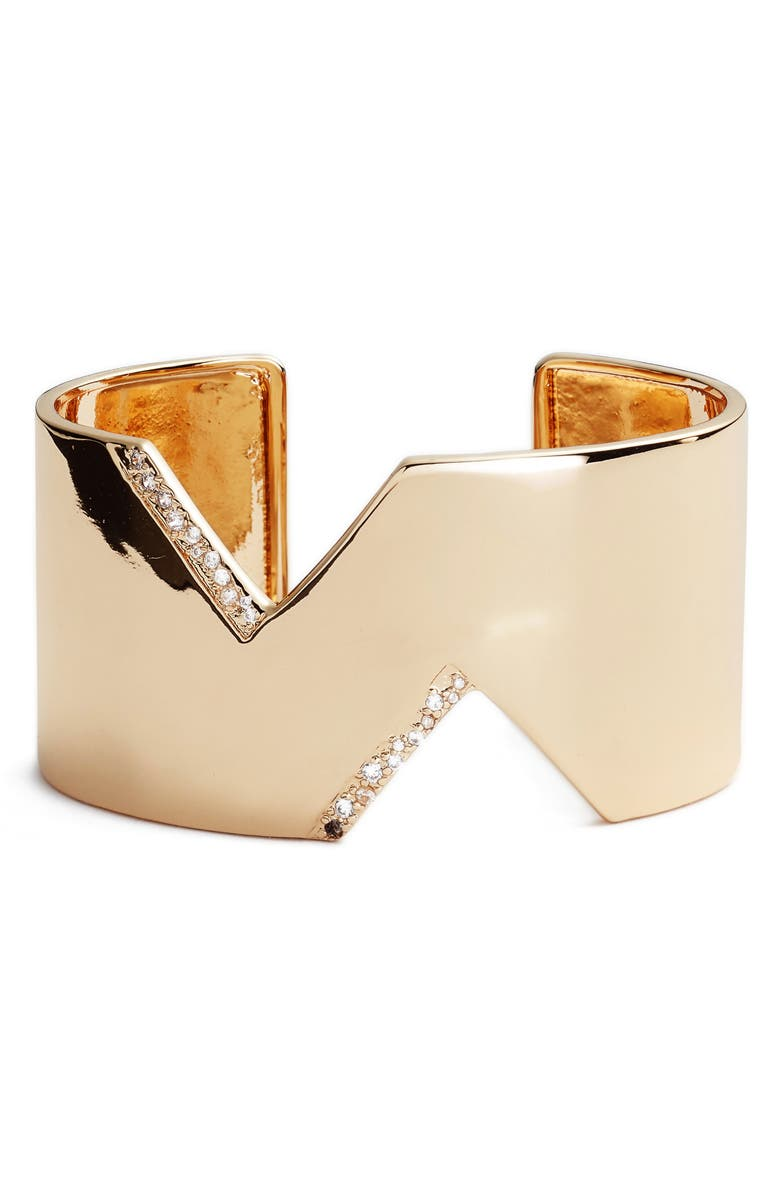 STERLING FOREVER Statement Cuff, Main, color, GOLD