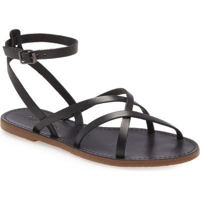 Madewell The Boardwalk Skinny Strap Sandal- Black