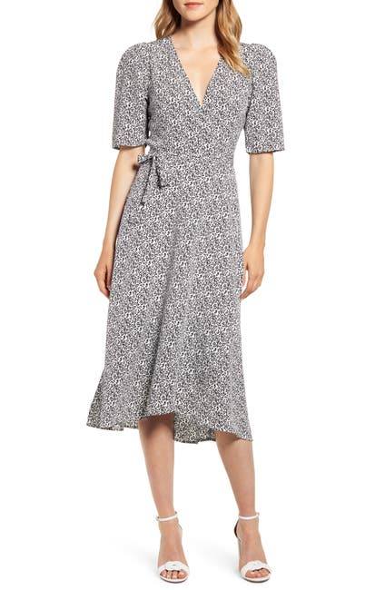 Image of Bobeau Liv Puff Sleeve Wrap Dress