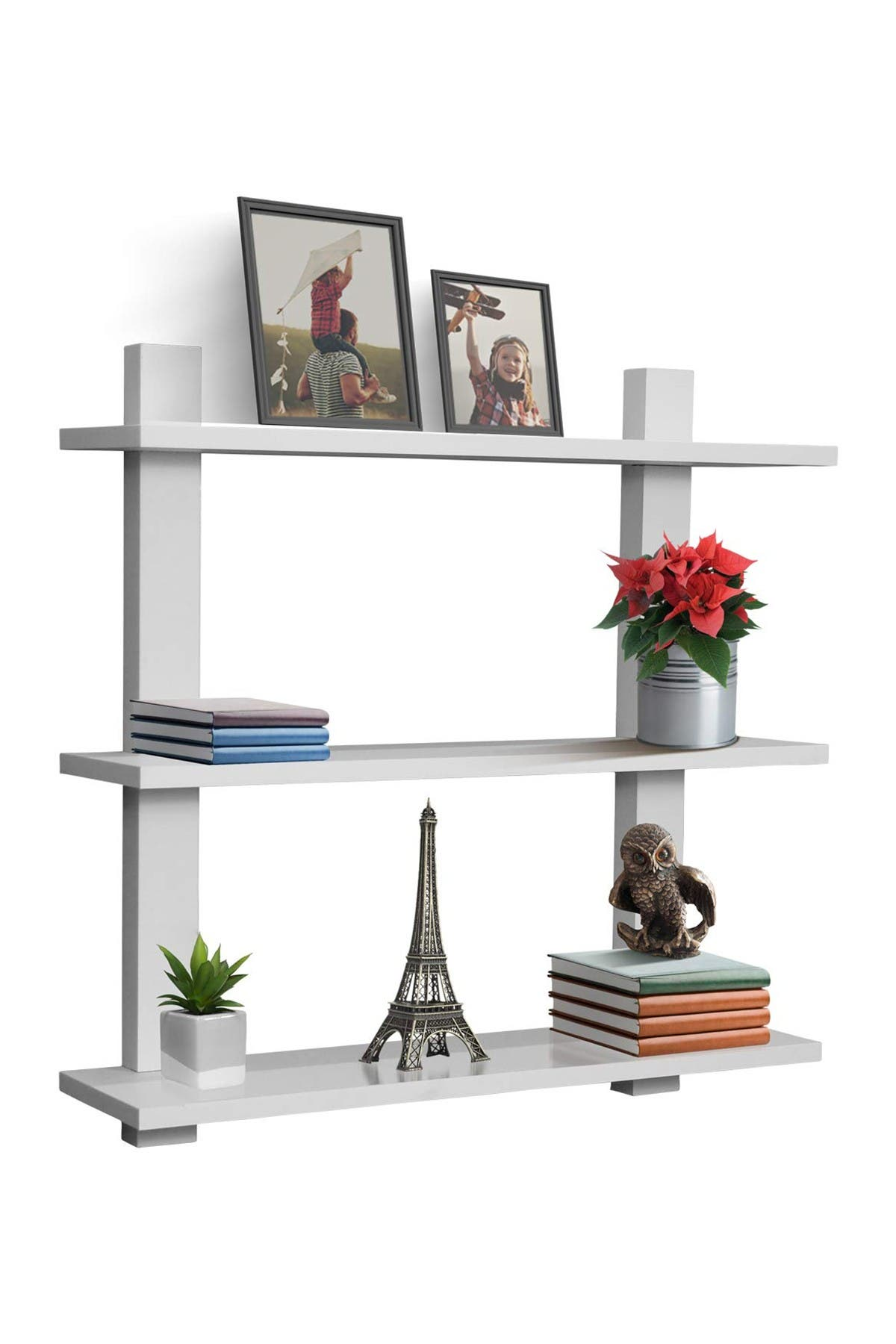 Image of Sorbus White 3-Tier Floating Shelf