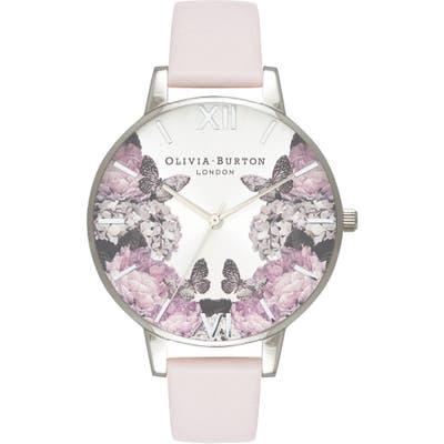 Olivia Burton Signature Floral Leather Strap Watch,