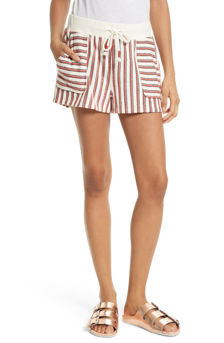 REBECCA MINKOFF Sonoma Cotton Shorts, Main, color, 601