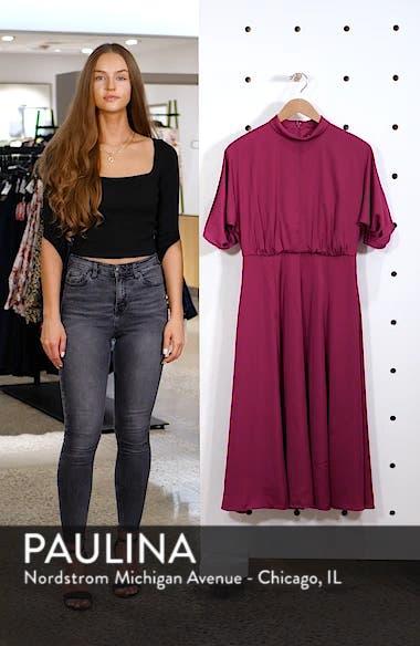 Diane Mock Neck Fit & Flare Midi Dress, sales video thumbnail