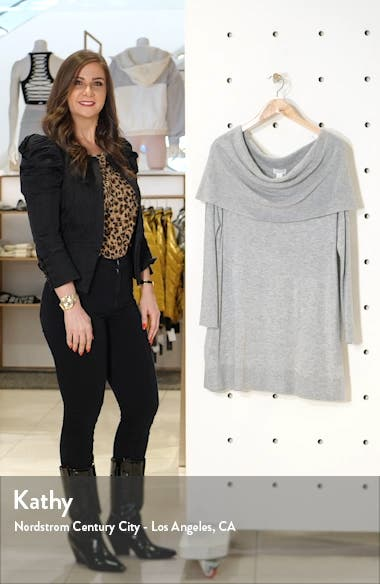 Cowl Neck Tunic Sweater, sales video thumbnail