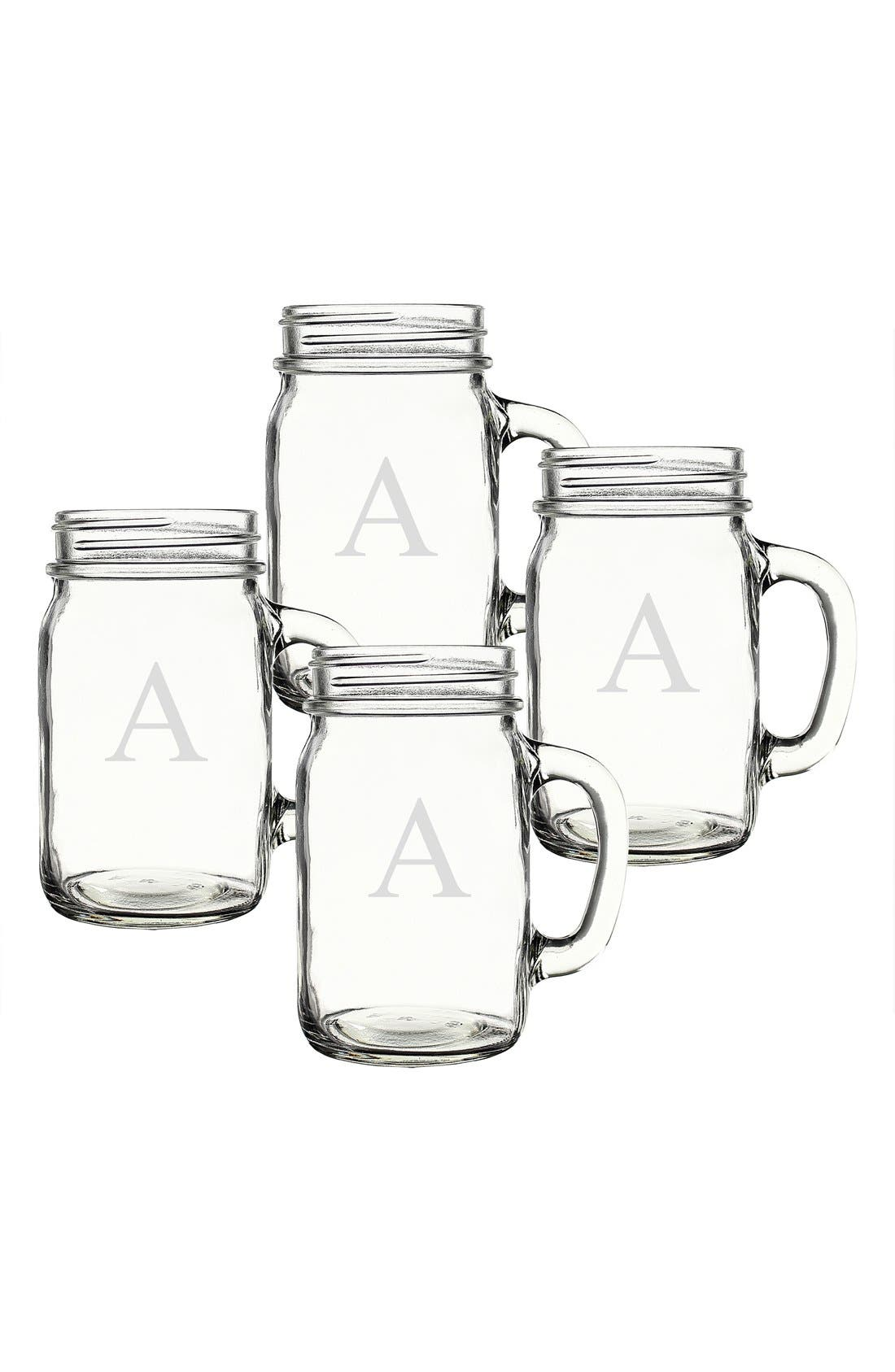 ,                             Monogram Glass Drinking Jars,                             Alternate thumbnail 9, color,                             960
