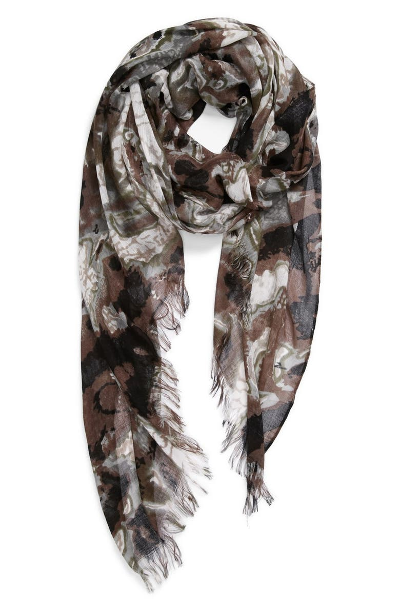 TASHA 'Ink Blot' Scarf, Main, color, 020