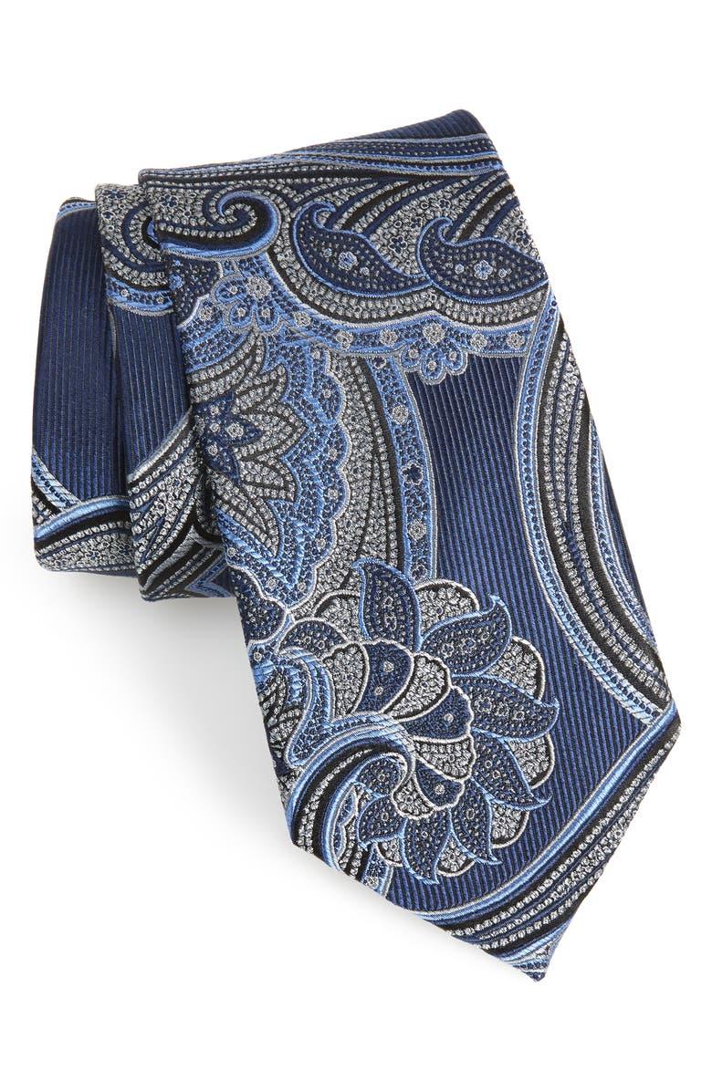 NORDSTROM MEN'S SHOP Paisley Silk Tie, Main, color, 414