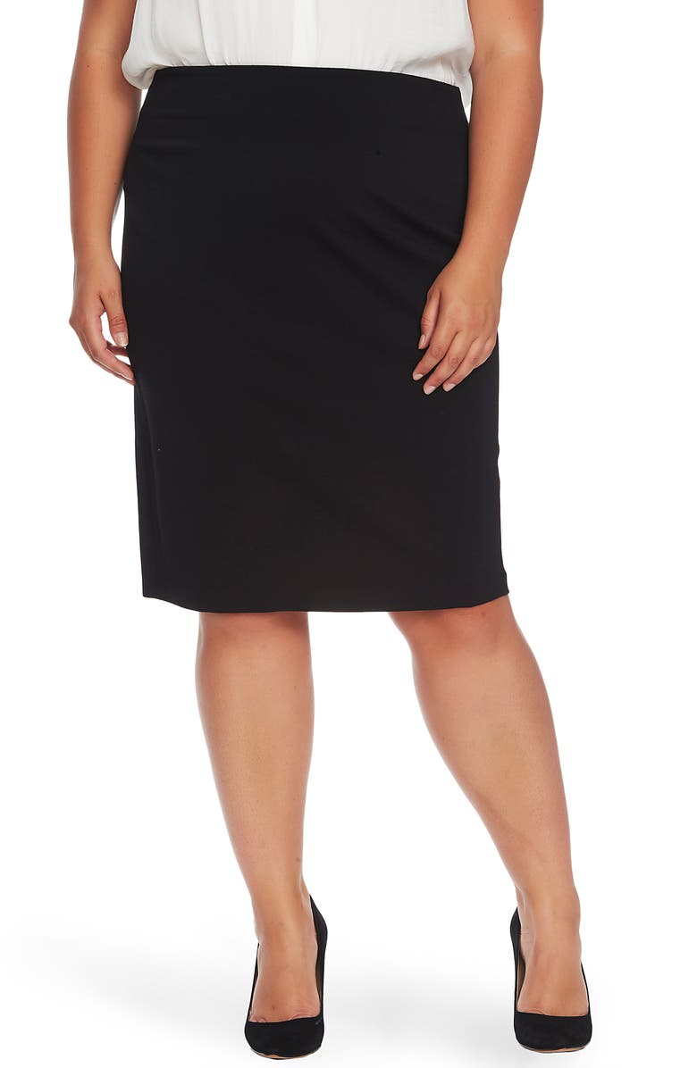 VINCE CAMUTO Ponte Knit Skirt, Main, color, RICH BLACK