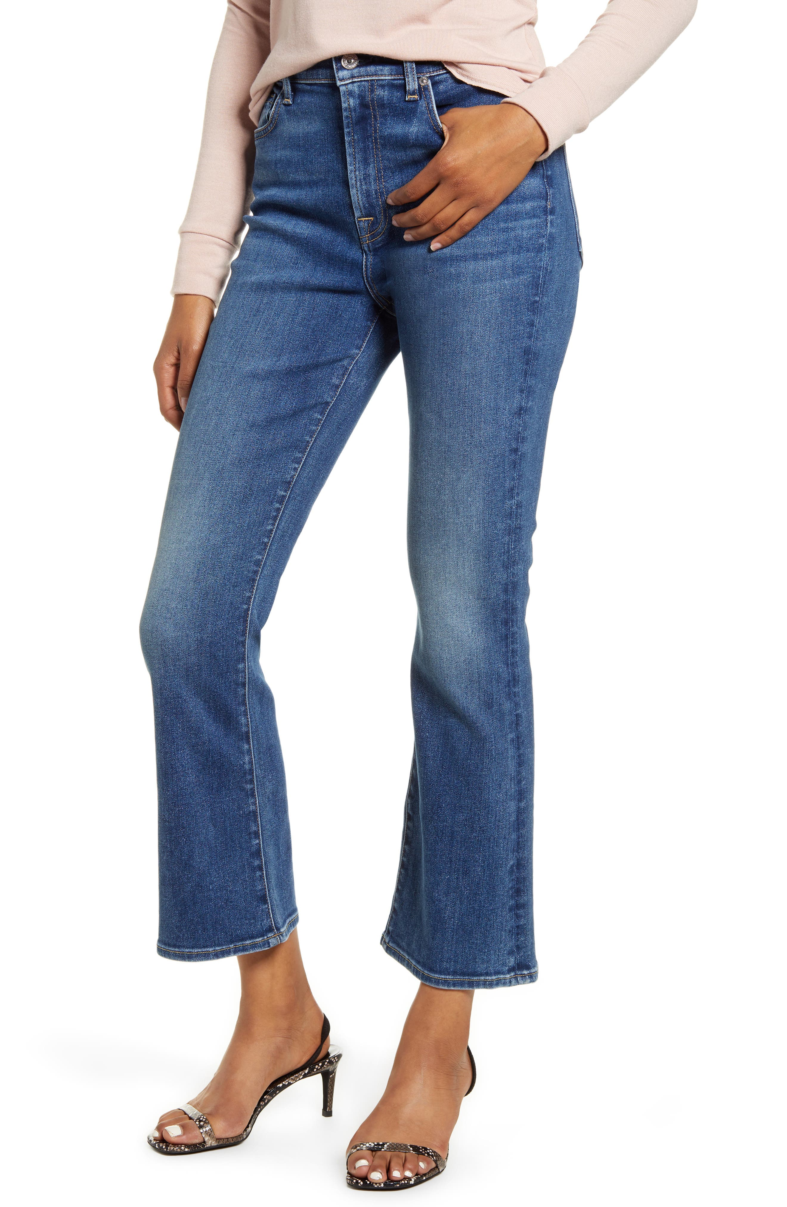 Image of 7 For All Mankind High Waist Slim Fit Kick Flare Jeans