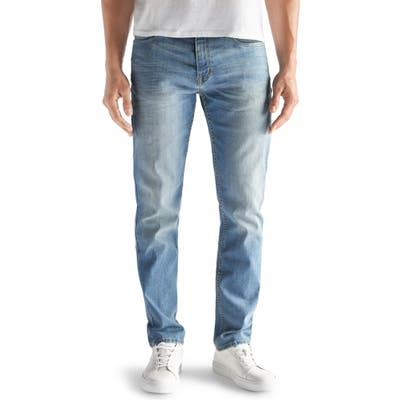 Devil-Dog Dungarees Athletic Fit Performance Stretch Jeans, Blue