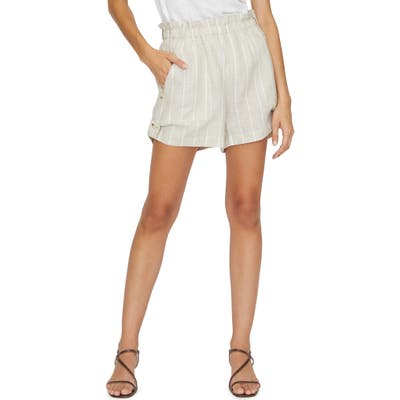 Sanctuary The Island Hampton Stripe Linen Shorts