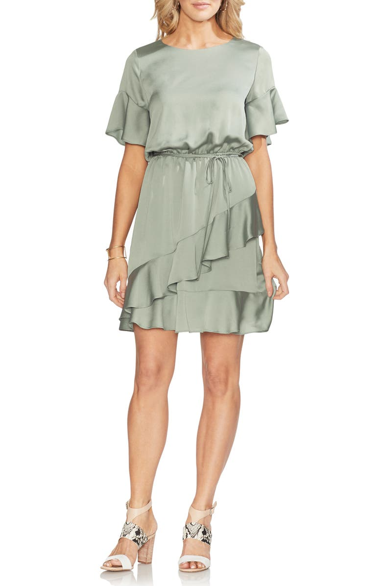 VINCE CAMUTO Ruffle Sleeve Blouson Minidress, Main, color, 386