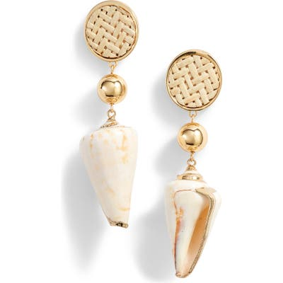 Ettika Shell Drop Earrings