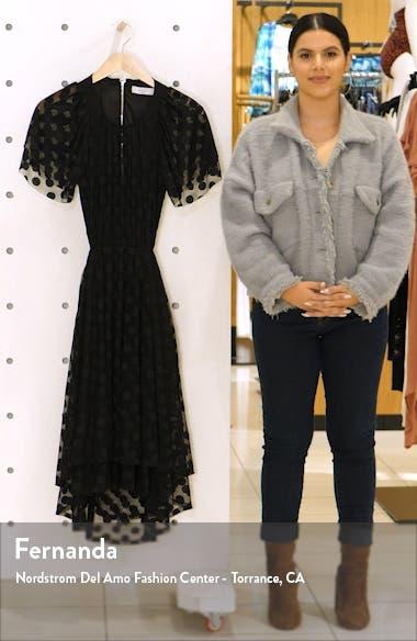 JoJo Cutout Dot Mesh Dress, sales video thumbnail