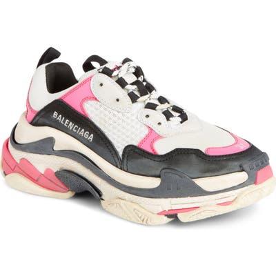 Balenciaga Triple S Low Top Sneaker, Pink