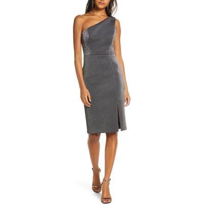 Vince Camuto One-Shoulder Metallic Body-Con Dress, Metallic