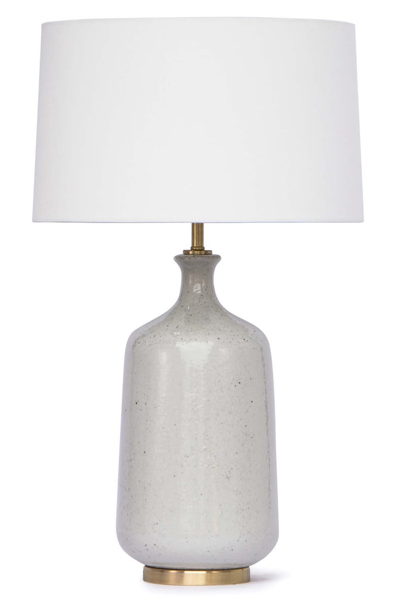 REGINA ANDREW Glace Ceramic Table Lamp, Main, color, GREY