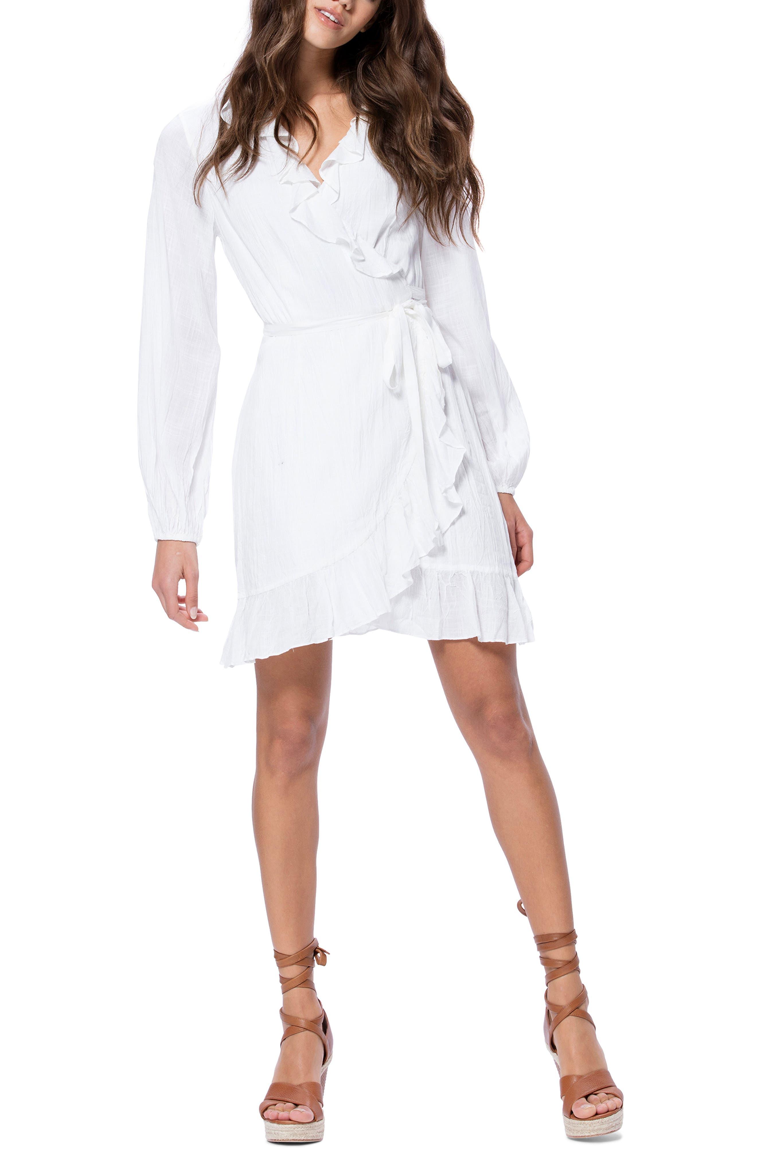 Paige Shawna Wrap Dress, White