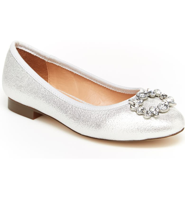 BCBG GIRLS Sabana Flat, Main, color, SILVER