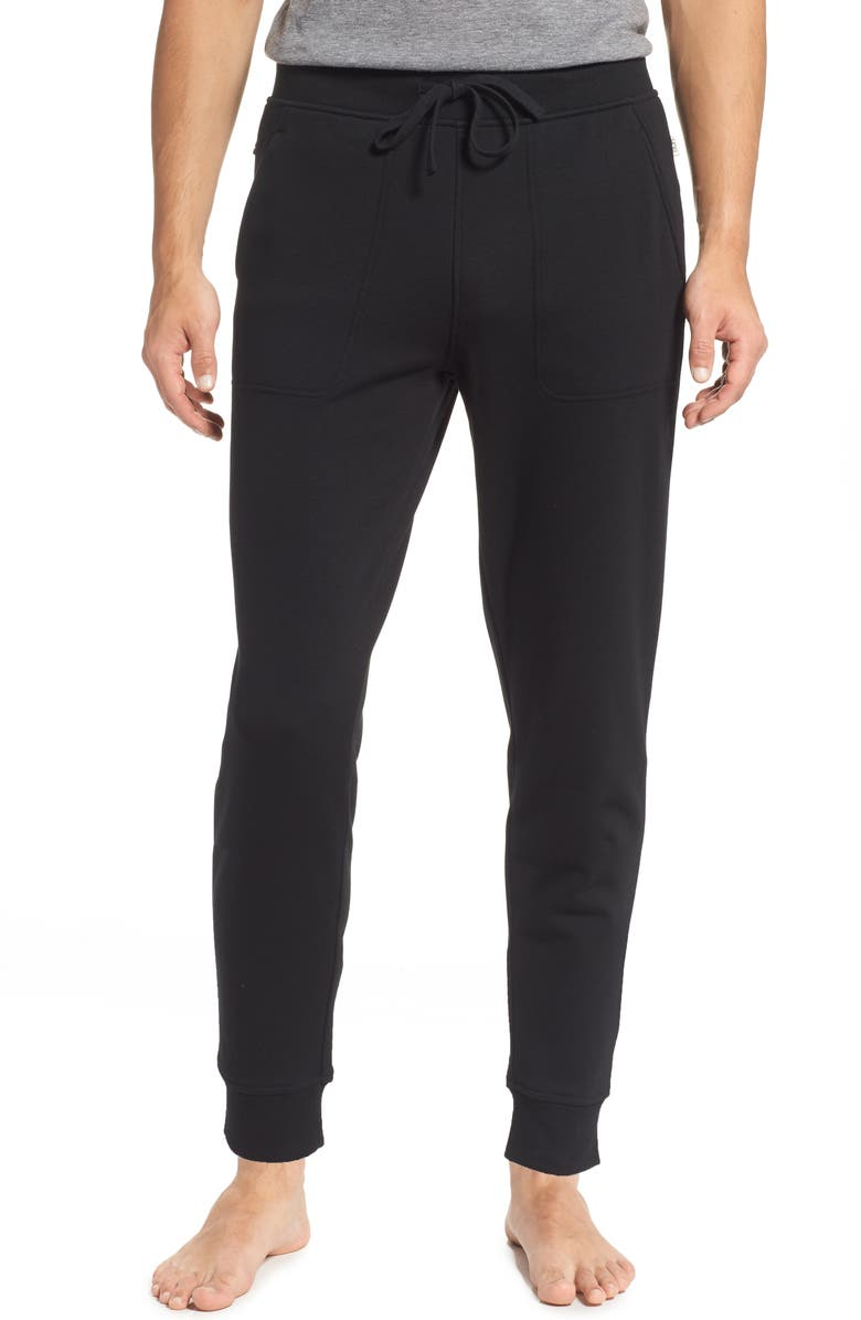 UGG<SUP>®</SUP> Hank Jogger Pants, Main, color, BLACK