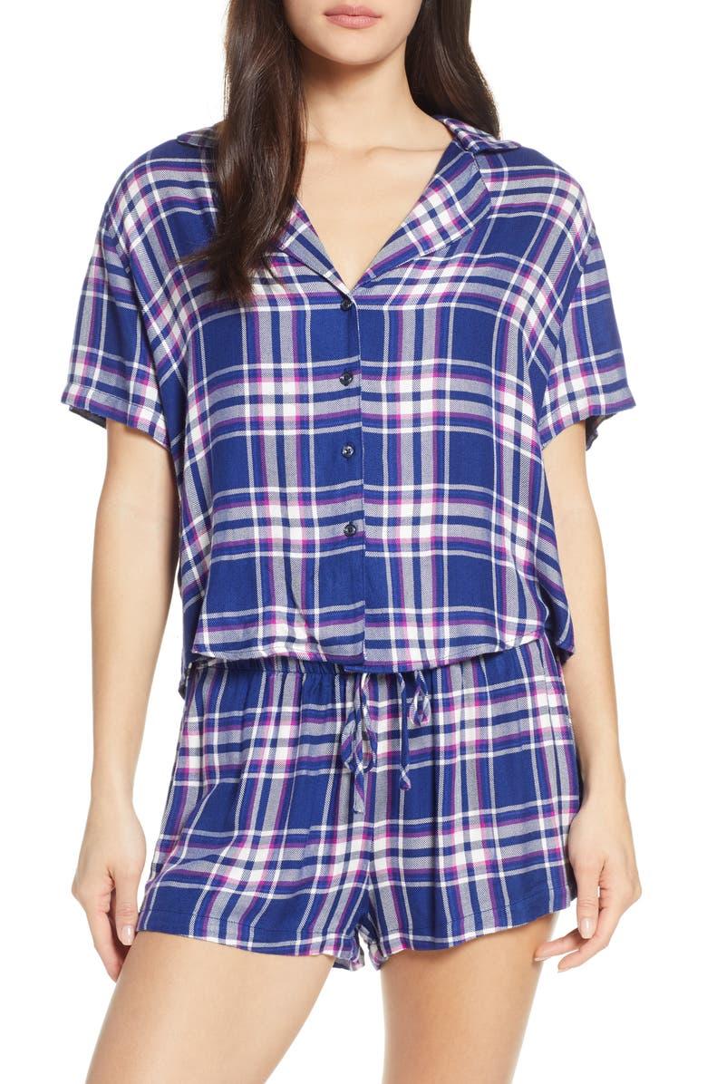 RAILS Plaid Short Pajamas, Main, color, MAGENTA BLUE WHITE