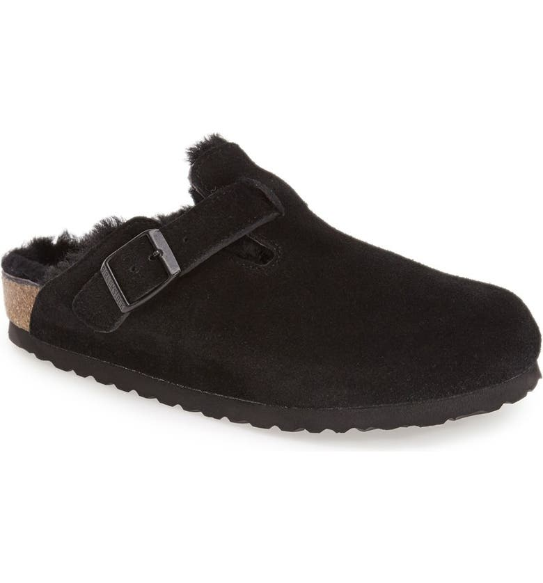 b5b3fca60 Birkenstock 'Boston' Genuine Shearling Lined Clog (Women) | Nordstrom
