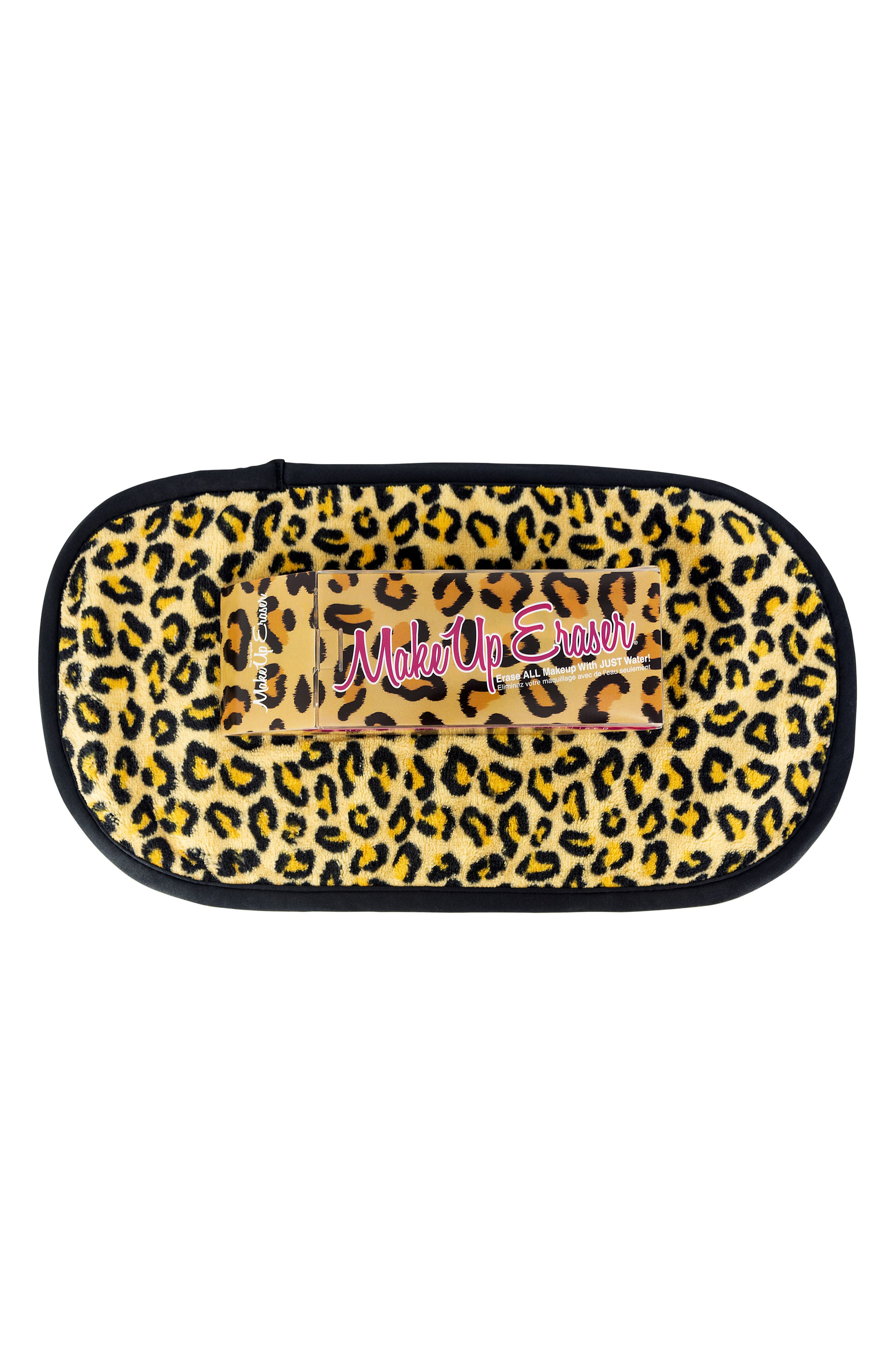 """Erase ALL makeup with JUST water! Including waterproof mascara, eyeliner, foundation, blush, and more! Reusable, machine washable, and lasts 3-5 years. Never buy harmful disposable wipes again. This full size cheetah MakeUp Eraser measures 15.5"""" x 7.5\\\"""
