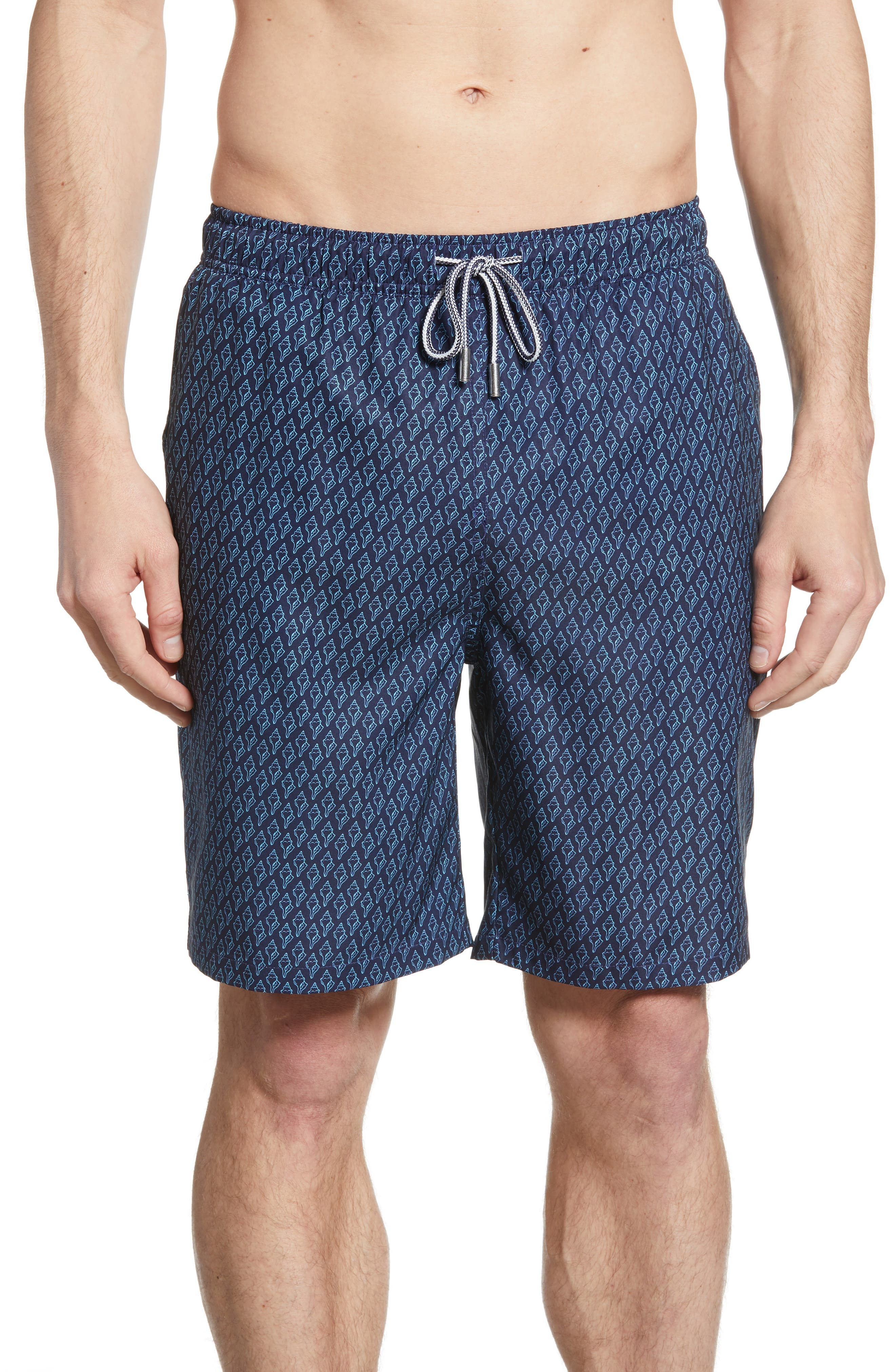 Peter Millar Neon Conch Swim Trunks, Blue