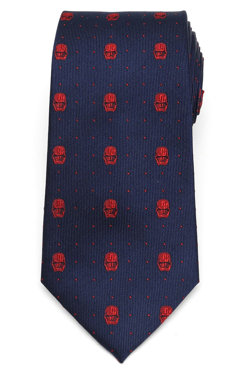 CUFFLINKS, INC. Stormtrooper Silk Tie, Main, color, NAVY