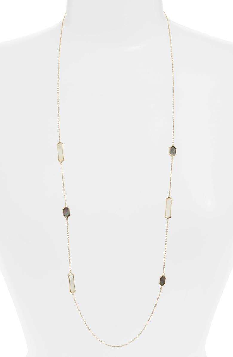 ARGENTO VIVO Mother-of-Pearl Station Necklace, Main, color, GOLD